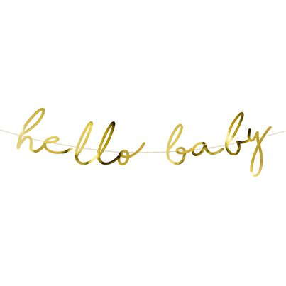 Little Star Gold Hello Baby Banner - 2m