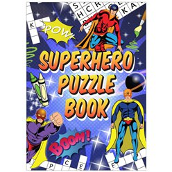Super Hero Mini Puzzle Book