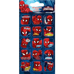 Spider-Man Foil Caption Stickers