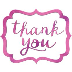 Bright Pink Thank You Stickers