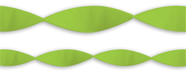 Lime Green Crepe Streamer - 24m