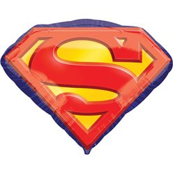 "Superman Emblem SuperShape Balloon - 31"" Foil"