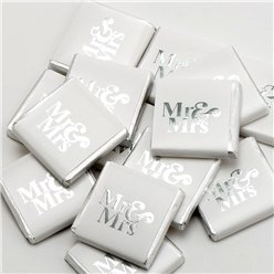 Silver Mr &  Mrs Chocolate Neapolitans