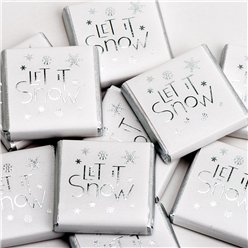 'Let It Snow' Chocolate Neapolitans - 50pk