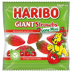 Haribo Giant Strawbs Gone Mini