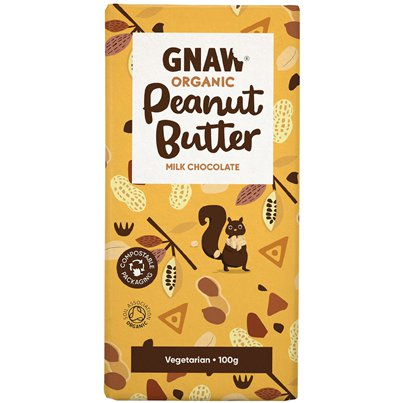 GNAW Organic Peanut Butter Chocolate Bar
