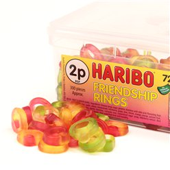 Haribo Friendship Rings Tub