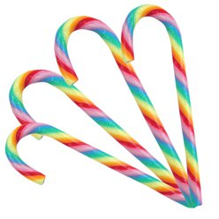 Rainbow Candy Cane - Fruit Flavour