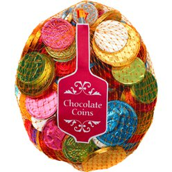 Rainbow Chocolate Coin Net - 400g (approx. 100 coins)
