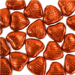 Orange Chocolate Hearts - 20pk