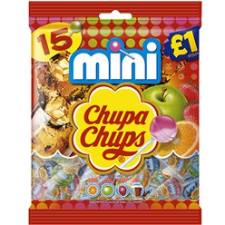 Chupa Mini Lollipops - 15pk
