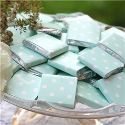 Mint Green Polka Dot Chocolate Neopolitans - 100g