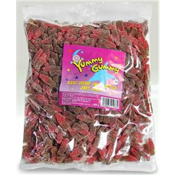 Yummy Gummy Fizzy Cherry Cola Bottles 1kg Bulk Bag