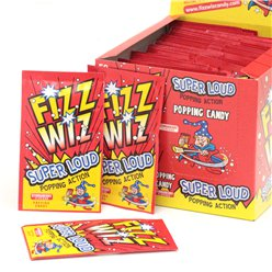 Fizz Wizz Popping Candy - Strawberry Flavour - 50pk