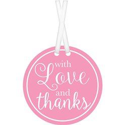 New Pink With Love & Thanks Tags