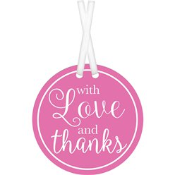 Bright Pink With Love & Thanks Tags