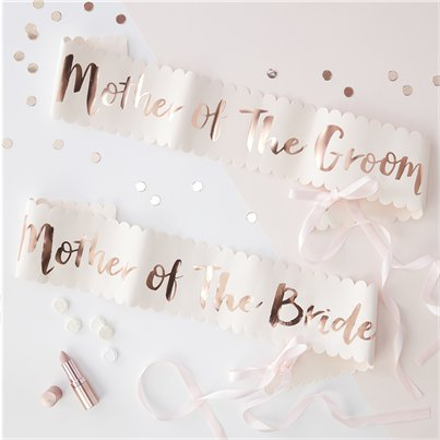 Team Bride Mother of the Bride & Groom Sashes