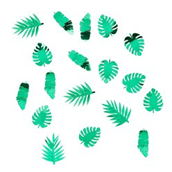 Metallic Tropical Leaf Confetti - 14g