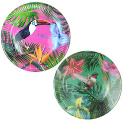 Tropical Fiesta Bright Paper Plates - 23cm