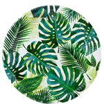 Tropical Fiesta Palm Paper Plates - 23cm