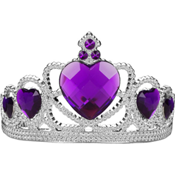 Silver Tiara with Purple Gems