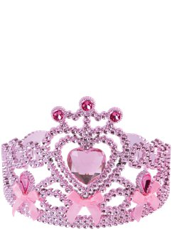 Pink Heart Tiara with Bows