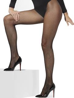 Black Fishnet Tights - Adult Size XL