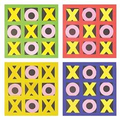 Felt Noughts and Crosses Game