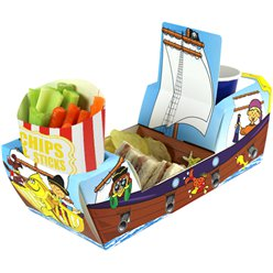 Pirate Ship Combi Food Tray - 26cm long