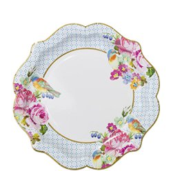 Vintage Tea Party Plates - 21cm