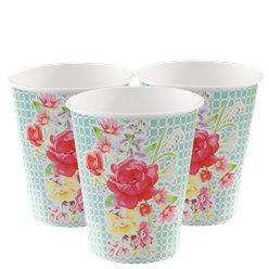 Vintage Tea Party Paper Cups - 250ml