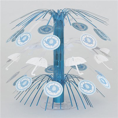 Umbrellaphants Blue Party Mini Cascade Table Centrepiece - 21cm