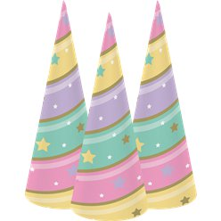 Unicorn Sparkle Horn Cone Hats