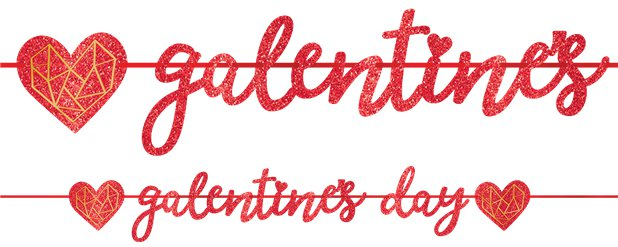 Galentines Day Foil Glitter Banner - 4.65m