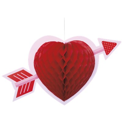 Heart Honeycomb Hanging Decoration