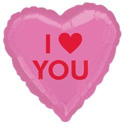 "I Heart You Candy Heart Balloon - 18"" Foil"