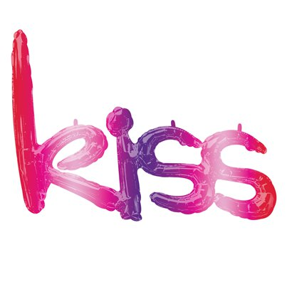 Ombre Kiss Foil Balloon