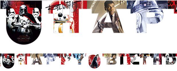 Star Wars: The Last Jedi 'Happy Birthday' Letter Banner