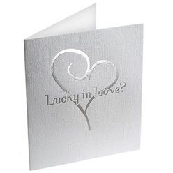 Contemporary Heart Lottery Ticket Holders - White and Silver