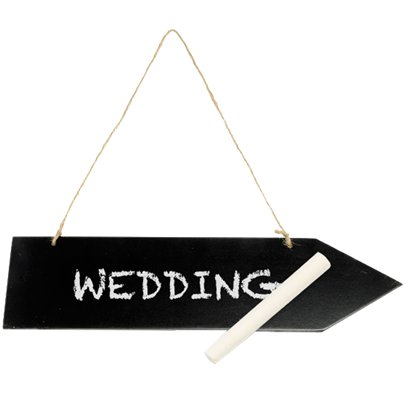 Wooden Blackboard Arrow on String - 30.5cm