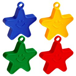 Primary Coloured Star Balloon Weights - 100g