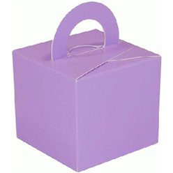 Lilac Cube Balloon Weight/Favour Boxes - 6.5cm