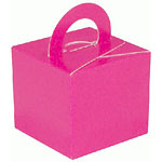 Hot Pink Cube Balloon Weight/Favour Boxes - 6.5cm