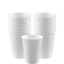 White Cups - 266ml Paper Party Cups
