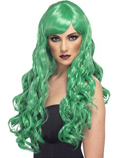 Green Desire Long Curly Wig