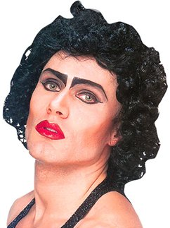 Rocky Horror Black Frank n Furter Wig