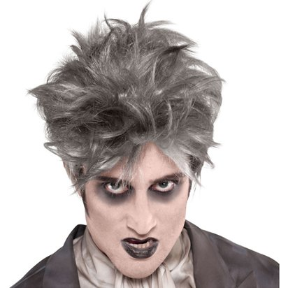 From the Crypt Grey Wig - Men s Halloween Zombie Wig front ca394b5b16a3