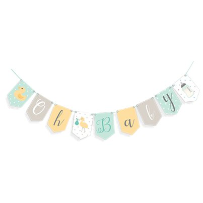 "Baby Wishes ""Oh Baby"" Bunting"