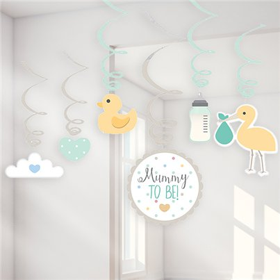 Baby Wishes Swirl Decorations