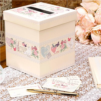 With Love Wedding Wishes Post Box